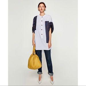 Zara constraining striped tunic